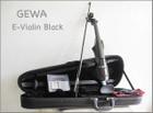 【 送料無料!】ドイツ製!GEWA ゲヴァ BLACK・4/4サイズ エレクトリック・バイオリンSet 【smtb-tk】