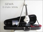 【 送料無料!】ドイツ製!GEWA ゲヴァ WHITE・4/4サイズ エレクトリック・バイオリンSet 【smtb-tk】