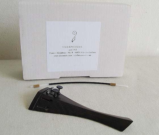 ULLSPERGER・ウルスペルガー / #500127 バイオリン用テールピース 1, 2番線用アジャスター内蔵 フレンチ/エボニー