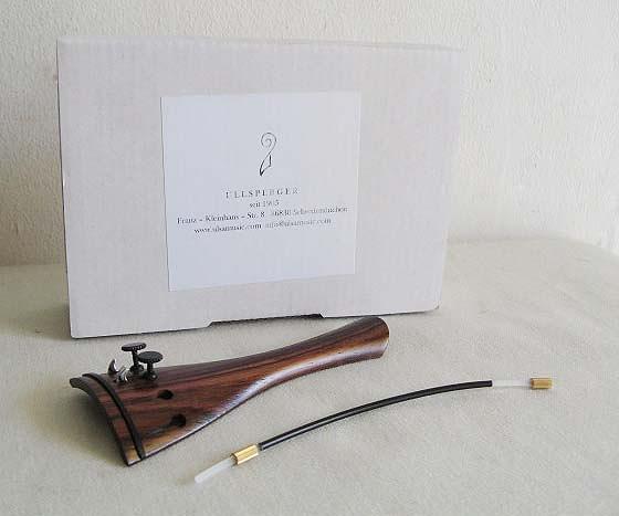 ULLSPERGER・ウルスペルガー / #500126 バイオリン用テールピース 1, 2番線用アジャスター内蔵 フレンチ/ローズウッド