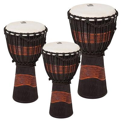 ★ TOCA トカ / WOOD DJEMBES Street Series Carved Djembe-Brown/Black-Small TSSDJ-L ジャンベ 12インチ 【smtb-tk】