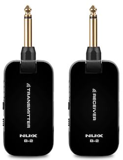NUX B-2 BK [2.4GHz Wireless System]小型ギターワイヤレスセット・小型ベースワイヤレスセット