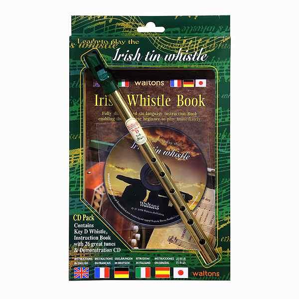 新作送料無料 これから始められる方に最適なセットです Waltons ワルトンズ 1514 Tin 模範演奏CD付き 人気の製品 Key:D Whistle ティンホイッスル 教本