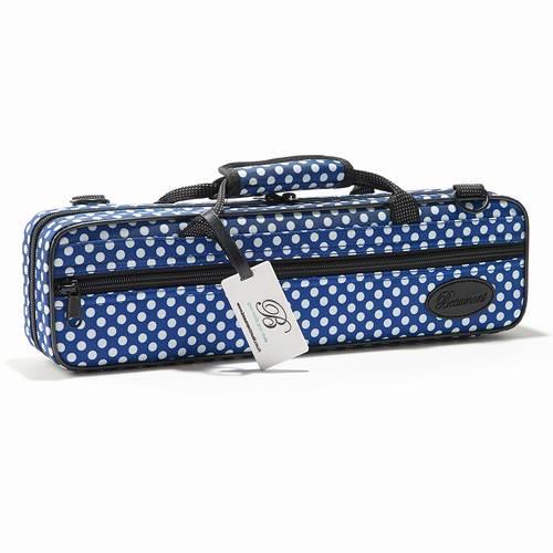 Beaumont・ボーモント / フルート用ボックスケース C管用 ブルー・ポルカ・ドット