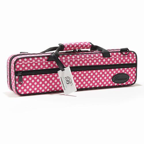 Beaumont・ボーモント / フルート用ボックスケース C管用 ピンク・ポルカ・ドット