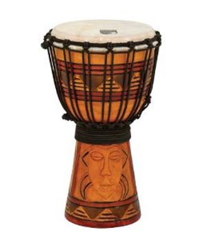 ★ TOCA トカ / Origins Rope Tuned Wood Djembes Tribal Mask TODJ-7TM ロープチューンド ジャンベ 7インチ 【smtb-tk】