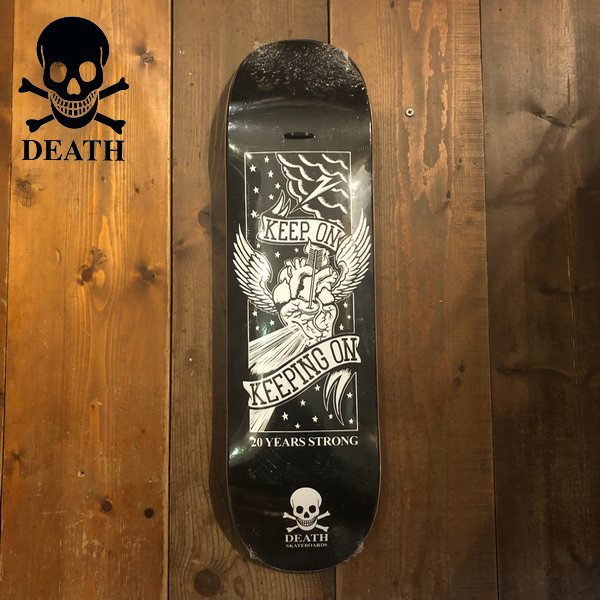 Death Skateboards デススケートボード KEEP ON 20 years strong スケート デッキ 8.25/8.375 20190207