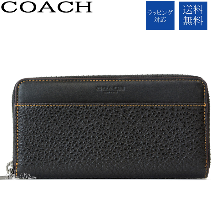 best loved c9b02 edcf2 Coach COACH wallet long wallet men black black outlet F12130 BLK