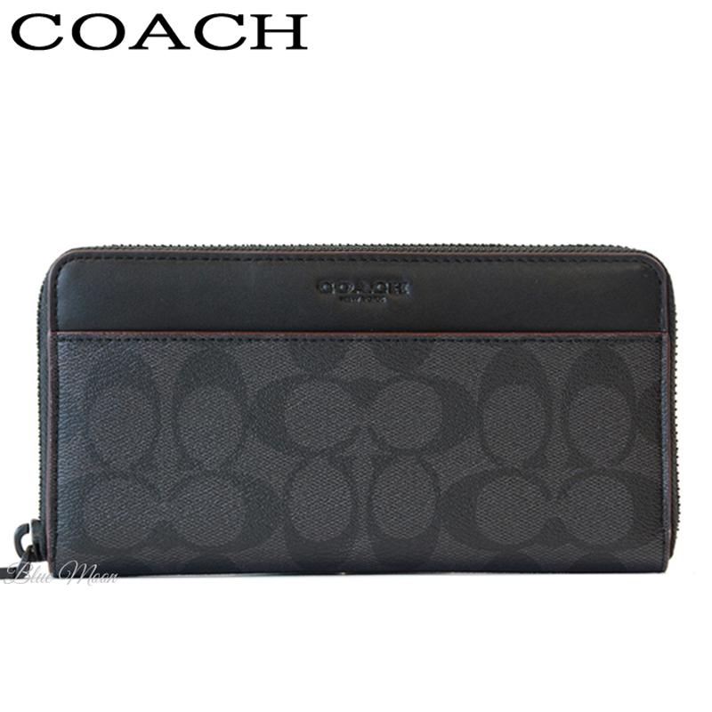 コーチ COACH 長財布 メンズ ブラック オックスブラッド F25517 N3A アウトレット