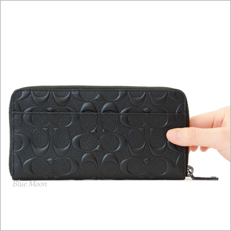 ... new arrivals coach coach wallet long wallet men leather black f58113blk  outlet 1b42b c65b3 239a7ba938f2c