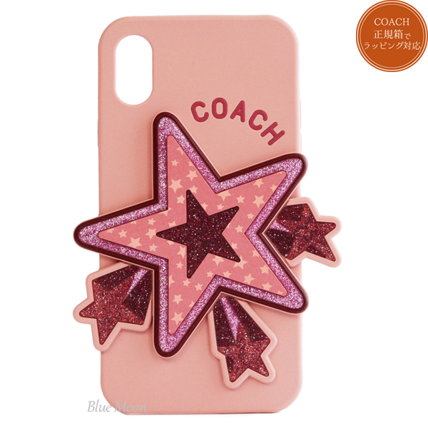 half off 50bde c31ad Coach COACH iPhone X iPhone XS case eyephone cover smartphone case outlet  star pink system F63886 ERE