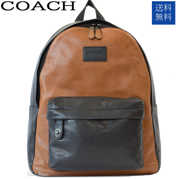 b41b27e77a28 Coach COACH bag leather rucksack backpack men saddle blackout let F72034  QSDBK