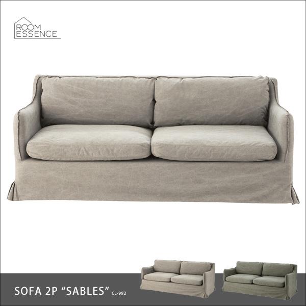 ソファ 2人掛け ソファー sofa ダイニングチェア 食卓椅子 チェア チェアー カバーリング リビング デザイン カーキー グレー CL-992