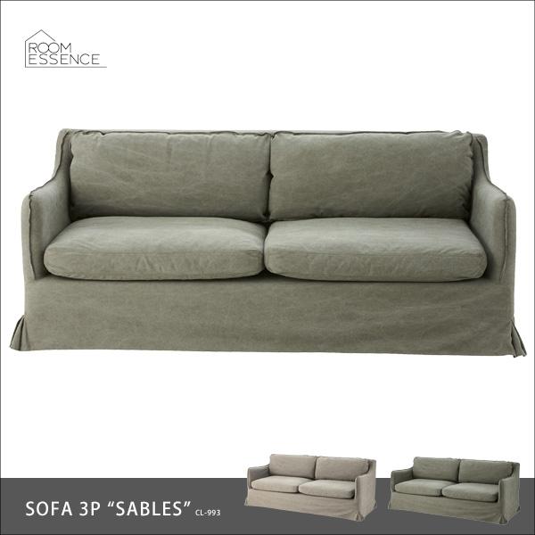 ソファ 3人掛け ソファー sofa ダイニングチェア 食卓椅子 チェア チェアー カバーリング リビング デザイン カーキー グレー CL-993