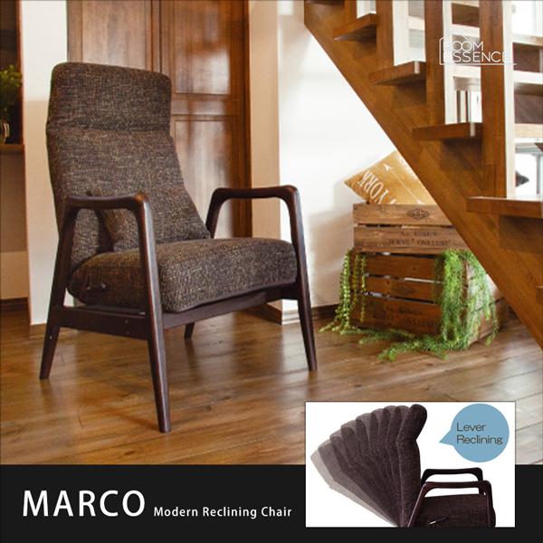 チェア リクライニングチェア フロアチェア 高座椅子 座椅子 パーソナルチェア 椅子 いす チェアー 木肘 肘付き 天然木 腰当 クッション ポケットコイル リビング モダン シンプル 北欧 デザイン おしゃれ ブラウン THC-113BR