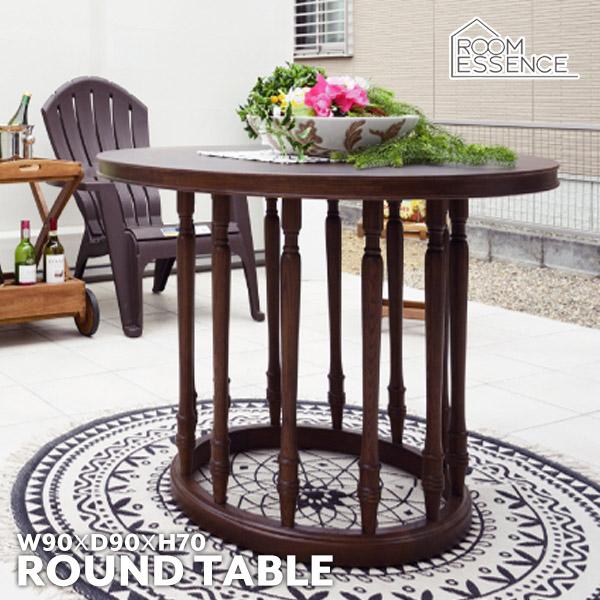 ラウンドテーブル 幅90cm ラウンジテーブル ダイニングテーブル カフェテーブル 食卓テーブル 花台 机 オフィス ロビー 円形 丸型 VET-590