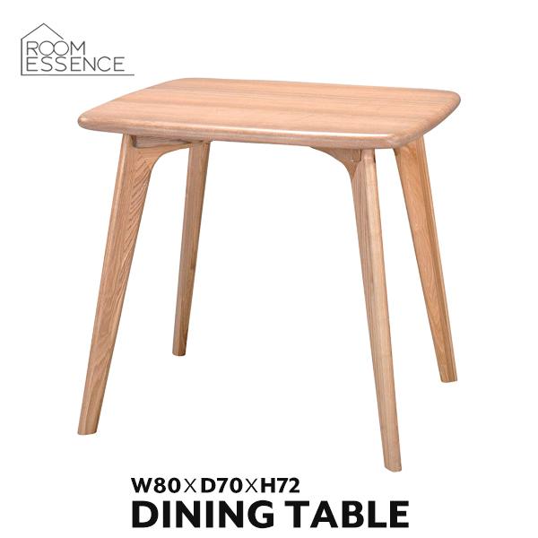 ダイニングテーブル 幅80cm テーブル 机 コンパクト 木製 天然木 アッシュ 食卓 新生活 省スペース シンプル デザイン 北欧 おしゃれ ナチュラル CL-816TNA