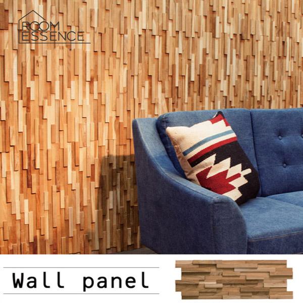 ウォールパネル 壁面パネル 天然木 木製 チーク材 軽量 簡単取り付け ウッドブリック アジアン 店舗 施設 引越し 新生活 WALL-101-10