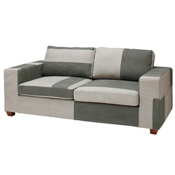 ソファ 2人掛け 幅181cm パッチワーク柄 ソファー 椅子 ファブリック 贅沢 座り心地 ラングル CL-182