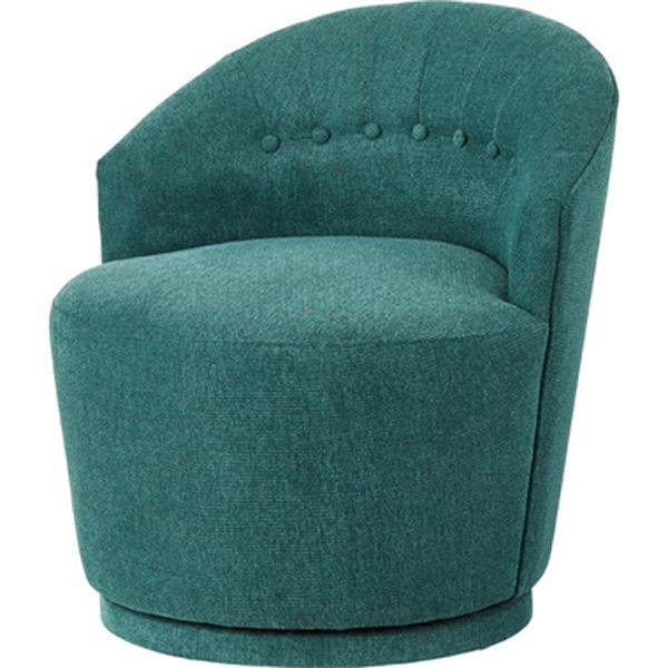 ラウンドチェア パーソナルチェア 1人掛け 椅子 ファブリック 贅沢 座り心地 ゆったり ヴァーチ CLS-66GR CLS-66GY CLS-66OR