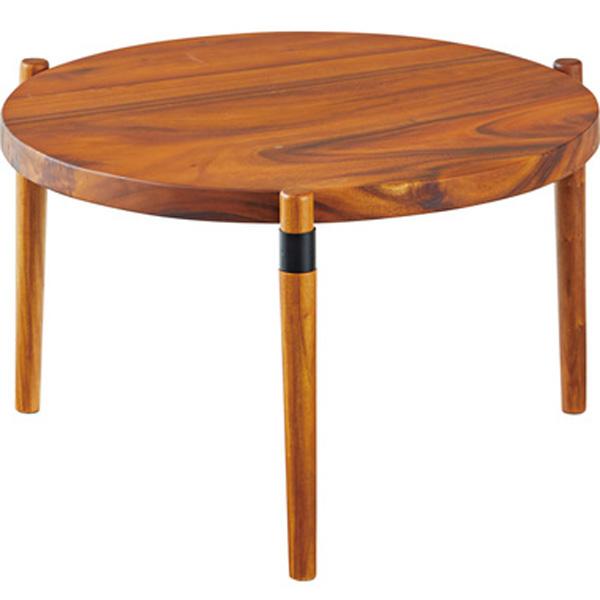 ラウンドテーブル 幅68.5×高さ38cm ローテーブル センターテーブル テーブル おしゃれ スチール 天然木 木製 GT-774