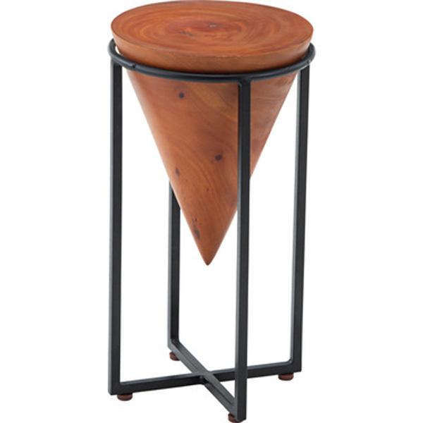 サイドテーブル S 幅25×高さ45cm テーブル モンキーポッド cafe カフェ おしゃれ 木製 スチール JW-101A
