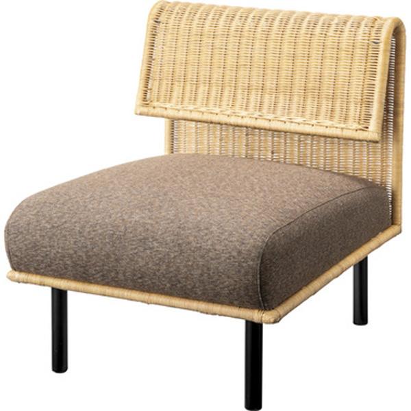 ソファ 幅60cm 1人掛け ソファー 椅子 ファブリック 贅沢 座り心地 ゆったり ラタン アイアン NRS-501A
