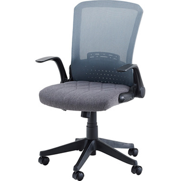 オフィスチェア デスクチェア ワークチェア チェア 椅子 キャスター付き 肘付き 肘掛け ファブリック 昇降式 テレワーク 在宅勤務 グレー ブルー OFC-31GY OFC-31SBL