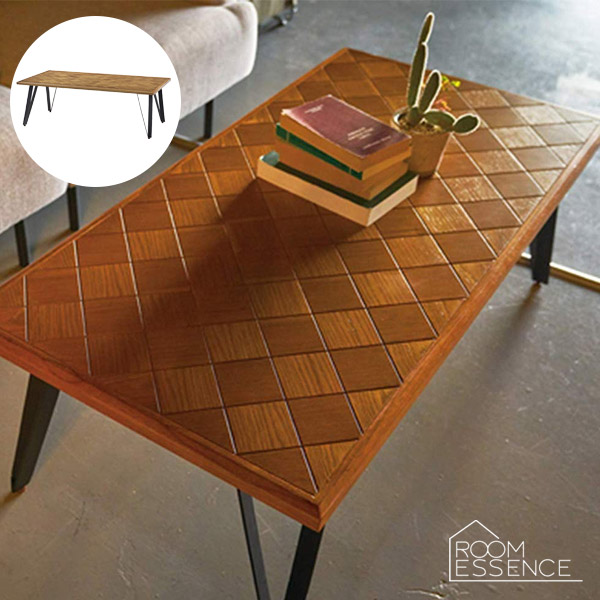 レトロデザインのセンターテーブルローテーブル 幅116cm リビングテーブル テーブル 机 木製 PM-201