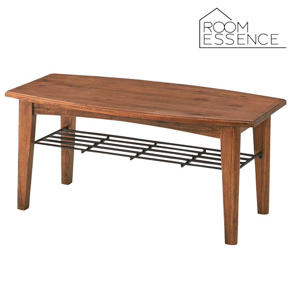 ヴィンテージ感のある木の風合いがお洒落なセンターテーブルSローテーブル リビングテーブル テーブル 机 収納 ラック PM-301
