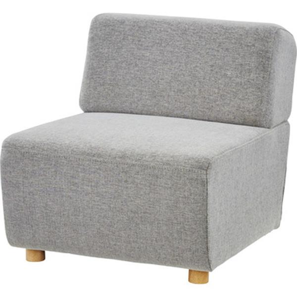ソファ 幅65cm 1人掛け ソファー 椅子 ファブリック 贅沢 座り心地 ゆったり キューブ SS-118GYB SS-118NVB