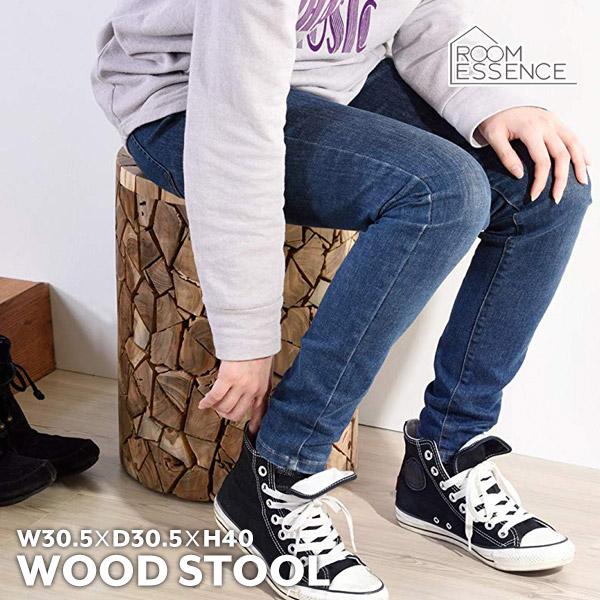 ウッドスツール 木製スツール ラウンドスツール 花台 サイドテーブル 背なし 椅子 いす チェア TTF-910A