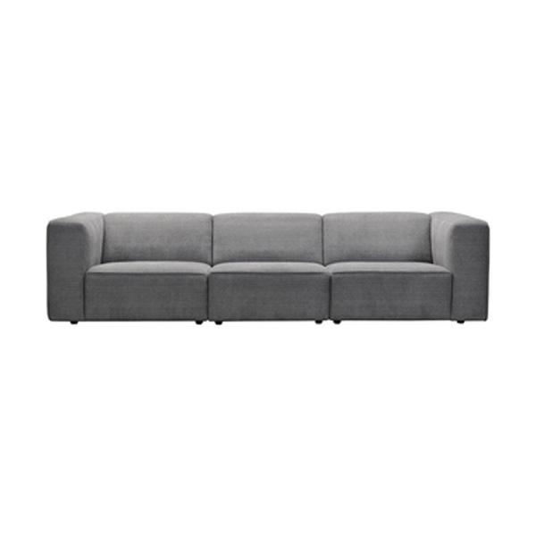 ソファ 幅285cm 3人掛け 2人掛け ソファー 椅子 ファブリック 贅沢 座り心地 ゆったり 木フレーム ライトグレー WE-223LGY