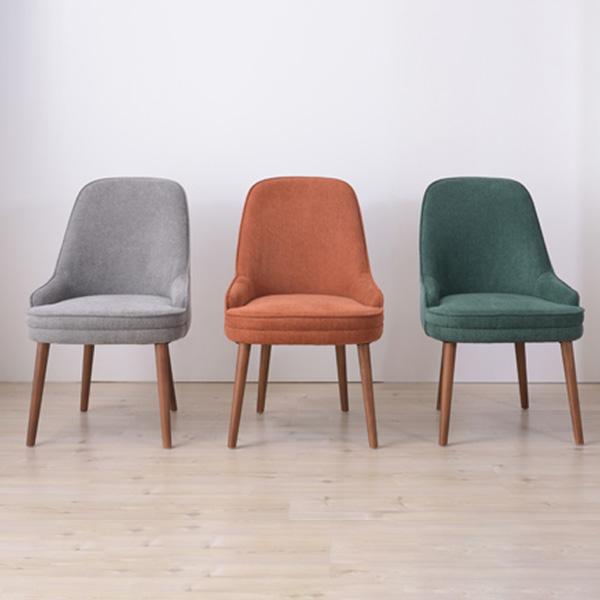 ダイニングチェア 座面高さ45cm チェア 椅子 食卓 木製 北欧 座り心地 Sバネ ウィービングベルト ファブリック グリーン グレー オレンジ CLS-55GR CLS-55GY CLS-55OR