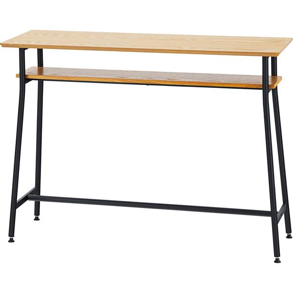カウンターテーブル 幅120×奥行40×高さ87cm ハイテーブル バーテーブル キッチンテーブル ダイニング リビング テーブル 机 木製 スチール シンプル おしゃれ END-355