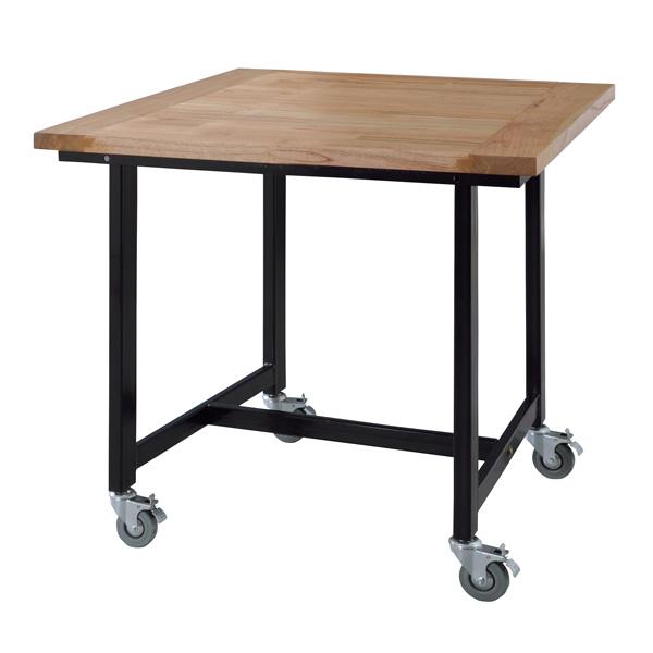 ダイニングテーブル キャスター付き 幅80×奥行80×高さ72cm ダイニング テーブル おしゃれ 天然木 木製 GUY-671