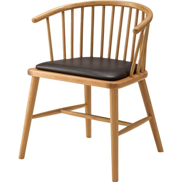 ダイニングチェア 座面高さ47cm チェア 椅子 ダイニング デスク リビング 木製 天然木 レザー 合皮 合成革皮 シンプル HOC-76