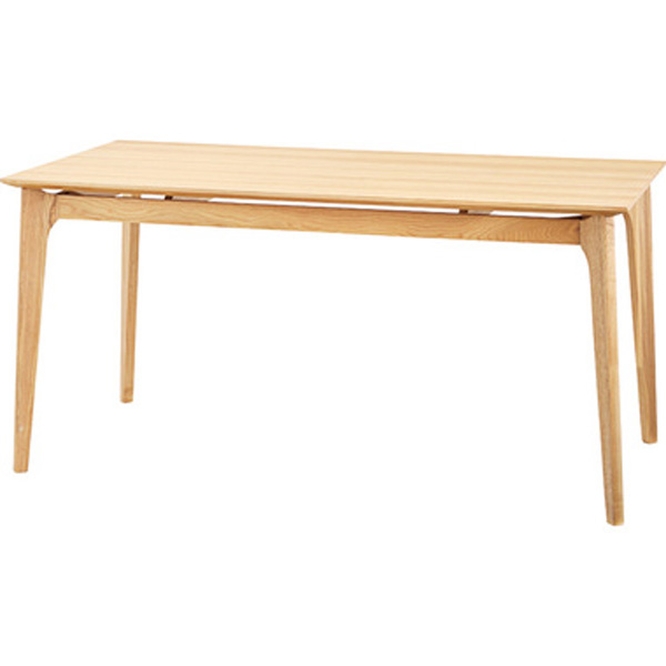 ダイニングテーブル 幅150×奥行80×高さ72cm 机 テーブル おしゃれ 天然木 木製天板 ナチュラル HOT-883NA
