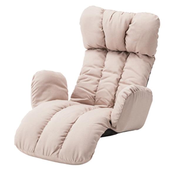 うたた寝チェア 1人掛け フロアチェア リクライナー 座椅子 座イス リクライニング 座り心地 ベージュ ブラウン LSS-28BE LSS-28BR