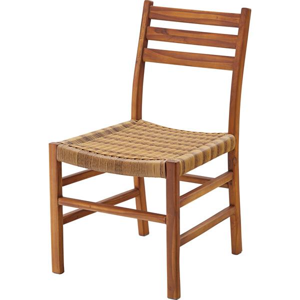 ダイニングチェア 座面高さ43cm チェア 椅子 食卓 木製 アジアン リゾート おしゃれ シンプル NRS-421