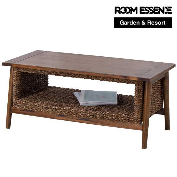コーヒーテーブル 幅100×奥行50×高さ42cm センターテーブル ローテーブル 机 収納 ガーデン アジアン リゾート テラス カフェ cafe 庭 シンプル おしゃれ NRS-454