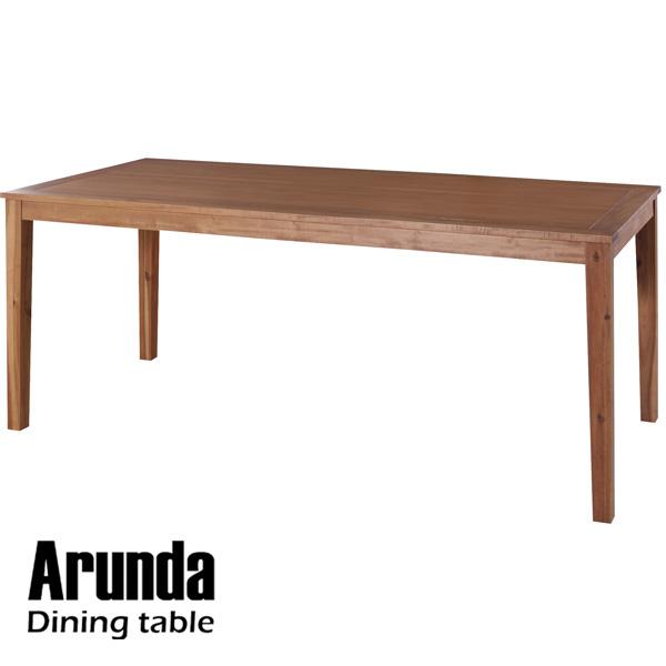 アカシア材独特の素朴な暖かみを感じることができるテーブル 東谷 roomessence ルームエッセンス ダイニングテーブル 幅180×奥行85×高さ72cm ダイニング テーブル 天然木 アカシア 木製 おしゃれ カフェ cafe アルンダ NX-714