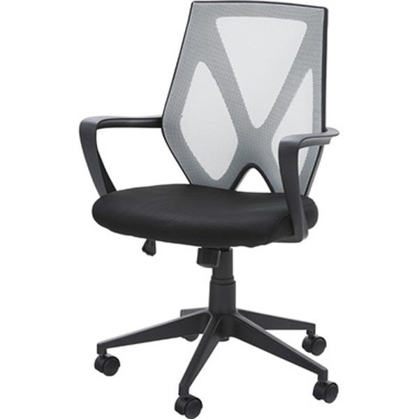 オフィスチェア デスクチェア ワークチェア チェア 椅子 キャスター付き 肘付き 肘掛け ファブリック 昇降式 テレワーク 在宅勤務 ブラック ホワイト OFC-10BK OFC-10WH