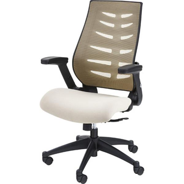 オフィスチェア デスクチェア ワークチェア チェア 椅子 キャスター付き 肘付き 肘掛け ファブリック 昇降式 テレワーク 在宅勤務 ベージュ ブルー OFC-21BE OFC-21BL