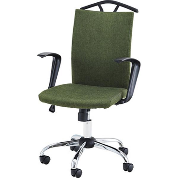 オフィスチェア デスクチェア ワークチェア チェア 椅子 キャスター付き 肘付き 肘掛け ファブリック 昇降式 テレワーク 在宅勤務 グリーン グレー OFC-40GR OFC-40GY