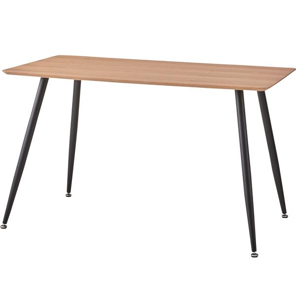 ダイニングテーブル 幅120×奥行75×高さ72cm ダイニング テーブル 木製 スチール アジャスター おしゃれ カフェ cafe PLT-512NA