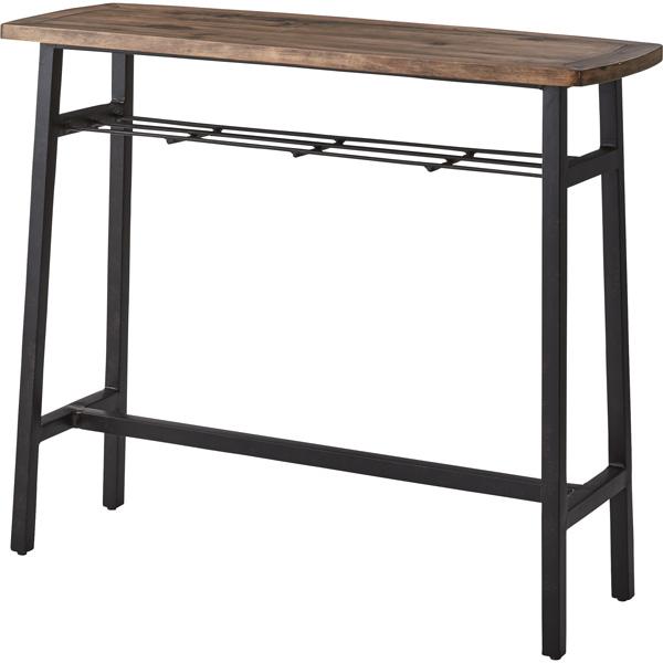 カウンターテーブル 幅120×奥行45×高さ101cm ハイテーブル バーテーブル カウンター ダイニング リビング テーブル 机 木製 天然木 スチール シンプル おしゃれ PM-454