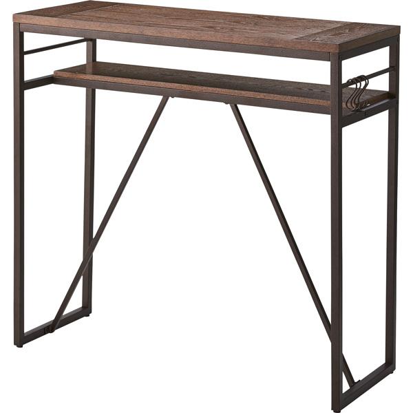 カウンターテーブル 幅105×奥行43×高さ100cm ハイテーブル バーテーブル カウンター ダイニング リビング テーブル 机 木製 天然木 シンプル おしゃれ PT-782BK