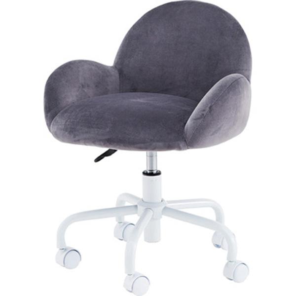 デスクチェア オフィスチェア ワークチェア チェア 椅子 キャスター付き 肘付き 肘掛け ファブリック グレー ピンク テレワーク 在宅勤務 RKC-401GY RKC-401PK