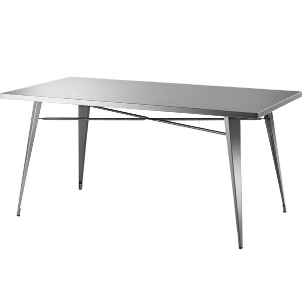 ダイニングテーブル ステンレス 幅151×奥行81.5×高さ72cm ダイニング テーブル おしゃれ カフェ cafe STN-334